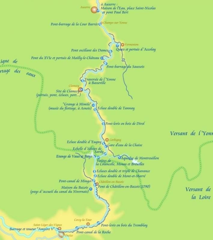 Itinerair du canal nivernais 2